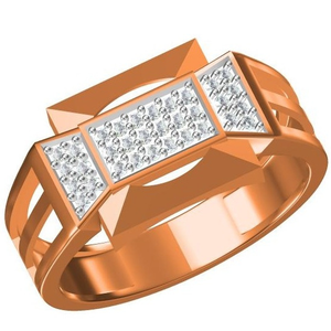 18kt cz rose gold diamond ring