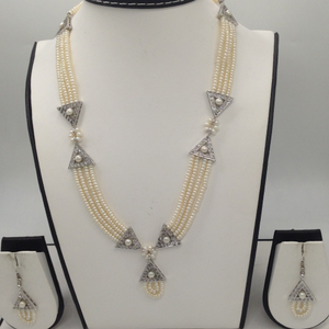 Whitecz and pearls samosaset with 4line