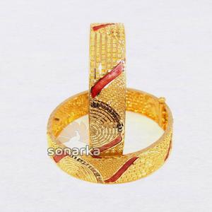 916 gold meenakari bangle sk - b001
