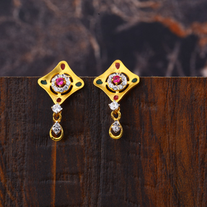 Ladies 916  gold earring -lfe243