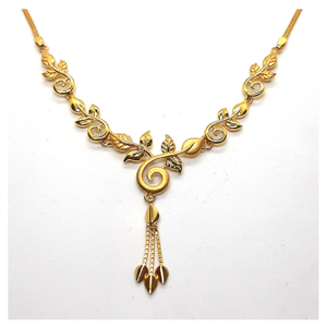 Plain gold necklace sk-n001