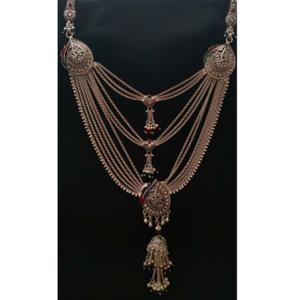 Silver indian ladies oxidised desinger kandor