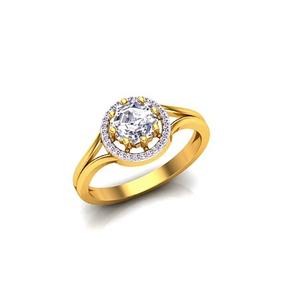 916 gold fancy single stone ladies ring so-lr