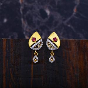 Ladies 916 gold earrings-lfe49