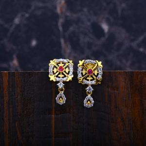 Ladies fancy cz earrings-lfe17