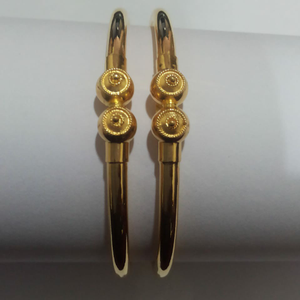 916 gold plain cooper bangle sg-72