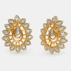 22 kt 916 gold cz diamond earring