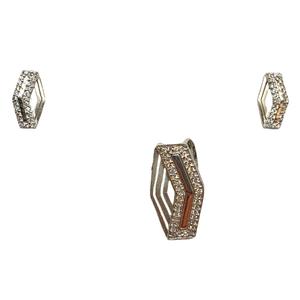 925 sterling silver designer pendant set mga