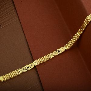 Mens 22k designer cartier gold bracelet-mcb04