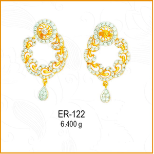 916 gold cz jalebi earrings design er-122