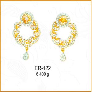 916 gold cz jalebi earrings design er-122