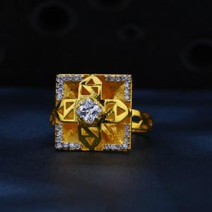 916 gold exclusive squre shape ring lr11