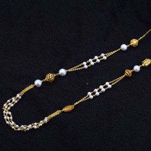 Ladies 22k fancy white moti mala-ac137
