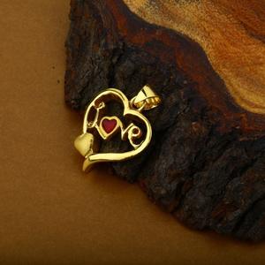18k hollow love pendant-hlp02