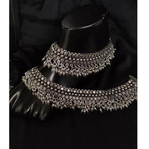 925 pure silver antique payal handmade po-208