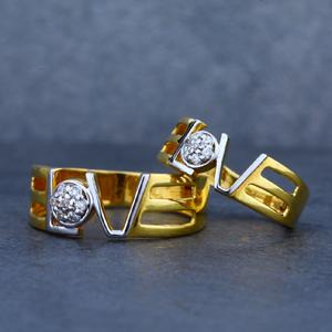 Couple gold desinger ring-cr02
