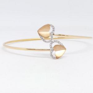 18 kt 750 rose gold heart piece flexible ladi