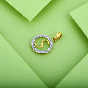 S letter 22k gold pendant-lp09