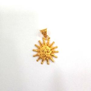 22k gold fancy plain pendant