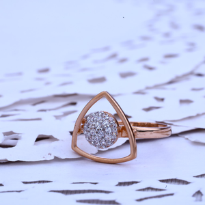 Ladies rose gold ring-rlr233