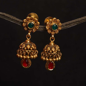 22k jadtar earring antique jewellery for wome