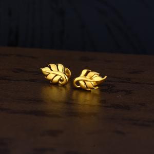 Ladies 22k gold fancy plain earring -lpe150