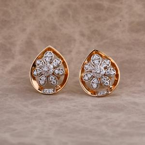 750 rose gold ladies earring re161