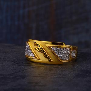 22ct gold mens stylish ring mr545