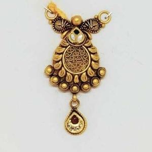 22 kt gold rajwadi antique pendant