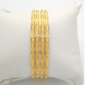 Gold hallmark hollo bangle - ip933