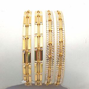 Gold hallmark plain + tar mani bangle - sml70