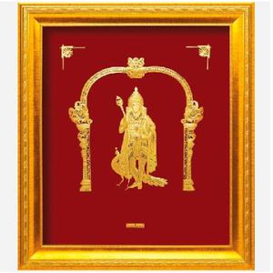 24 k gold god murugan photo frame rj-pga44