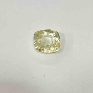 4.11ct cushion yellow yellow-sapphire-pukhraj
