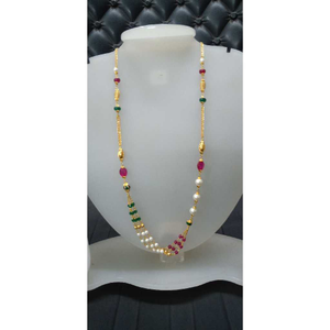 22kt gold fancy colorful bridal mala