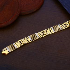 Mens gold fancy plain bracelet-mpb121