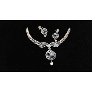 92.5 sterling fancy silver necklace set