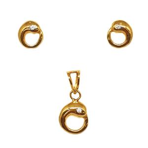 22k gold designer pendant set mga - ptg0071