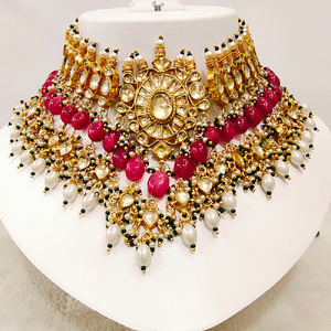 Pachhi kundan jadter necklace 1131