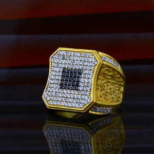 Mens 22ct heavy designer gold ring-mhr14