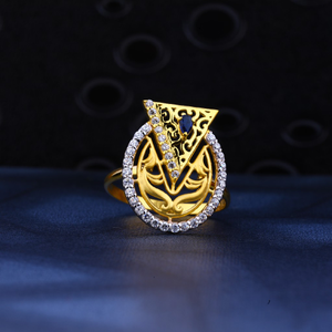 22kt gold exclusive cz ring lr74