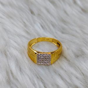 22 carat 916 diamond gents ring