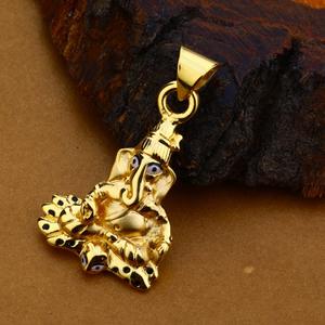 18kt gold hallmark fancy pendant for men hlp1