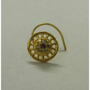 Gold diamond classic ladies nose pin