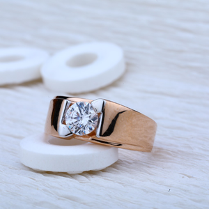 Solitaire rose gold ring-rmr20