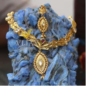 22kt gold handmade jadau necklace set