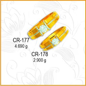 22kt gold designer cz couple ring cr-177