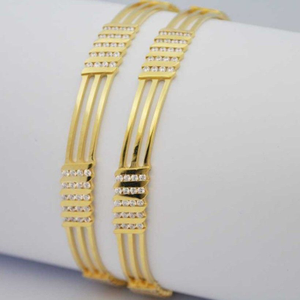 916 gold fancy cnc cz stone bangle