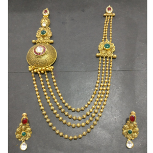 916 gold traditional bridal necklace set kg-n