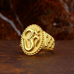 Bhavishya rate 916 fancy gents om ring