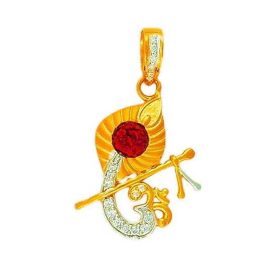 22K/916 Gold CZ Fancy Krishna Pendent
